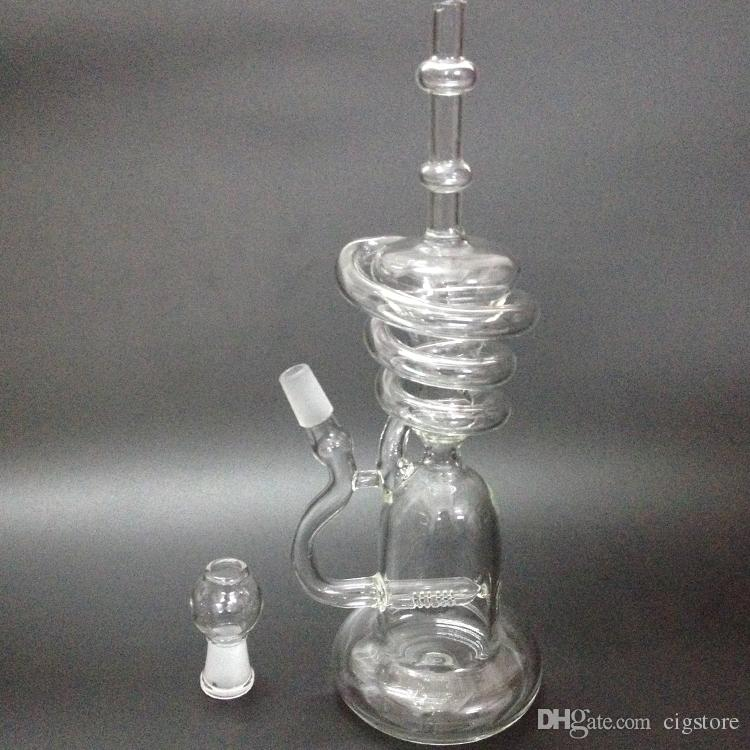 New glass bong Hitman Glass Sundae stacks Glass oil rigs water pipes thick and sturdy glass with 14.5mm male joint
