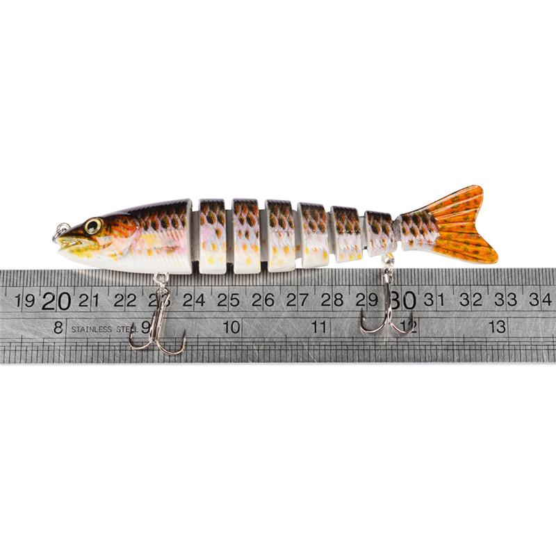 8 Segments Artificial VIB Laser Swimbaits Fishing hooks 12cm 19g Painted lifelike FISH 8 Jointeds Lure Striped bass bait