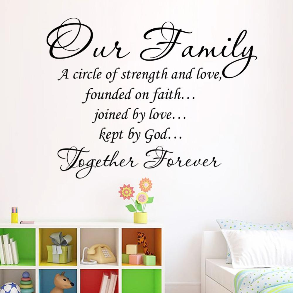 Our family together forever quotes letter pattern design pvc our family together forever quotes letter pattern design pvc removable wall sticker wedding decoration vinyl mural sticker art for walls sticker decals for junglespirit Gallery