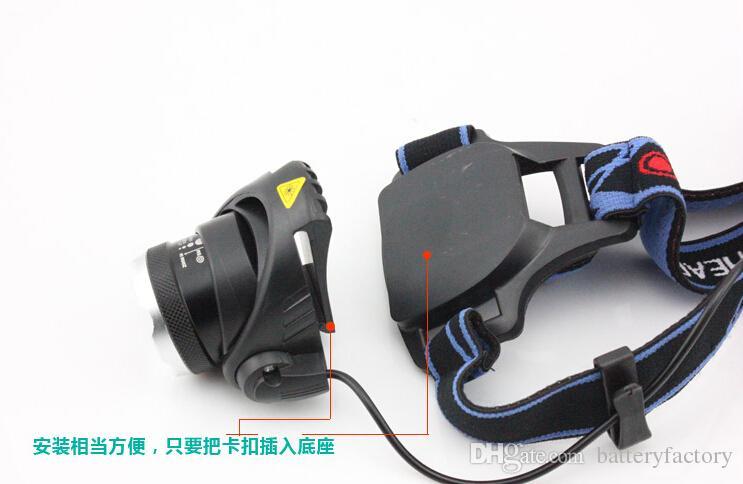 Phare de CREE XM-L T6 LED Phare Pour Lampe frontale Torche à LED Lampe frontale de 18650