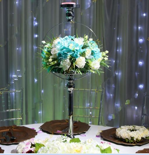 Least Glass candle holder for Wedding table centerpiece decoration 111