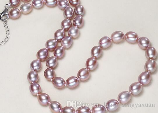 7-8 mm m shape bead light pink purple boutique pearl white fresh water