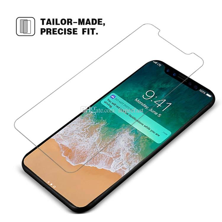 Premium Screen Protector For iPhone Xs Max 8 7 Plus Tempered Glass Protect Film For Galaxy J7 Prime J3 2017 Ship in ONE day With Package