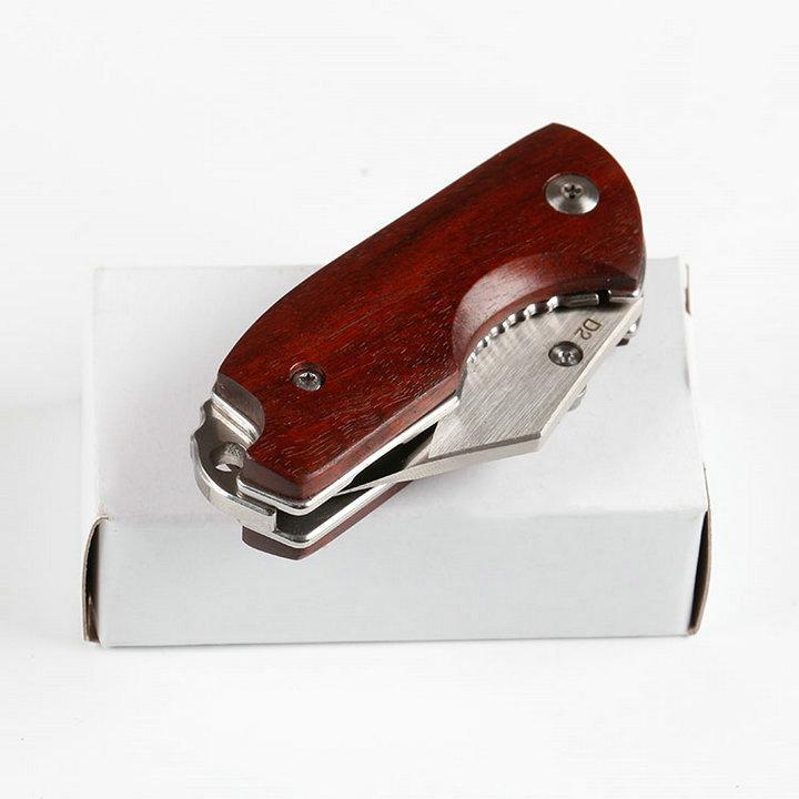 Bestselling pequena faca livre lobo D2blade ZL101 faca dobrável scentedwood + punho de aço branco caixa 58HRC utilitário EDC faca de preço de atacado