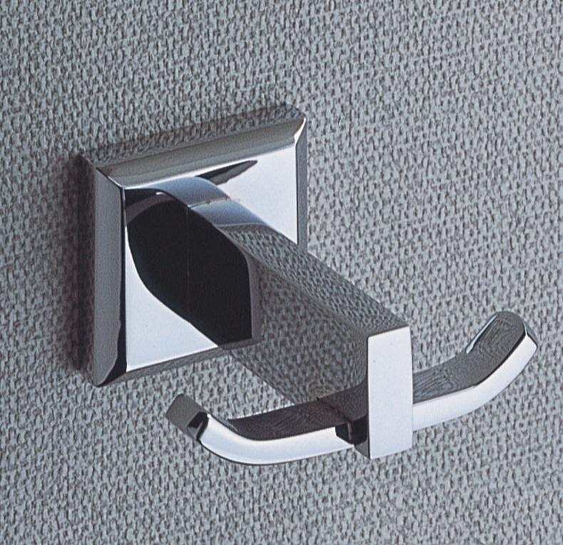 Coat hooks chrome plated brass bathroom accessories double - Chrome plated brass bathroom accessories ...
