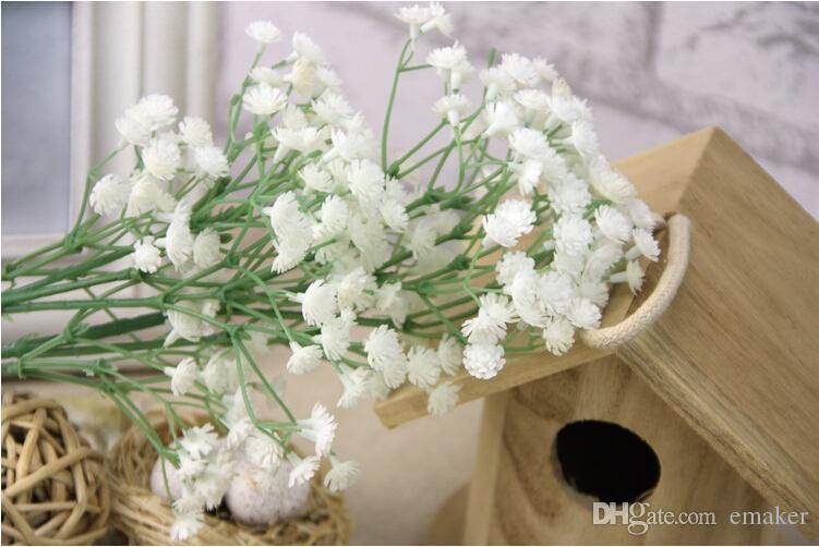 2015 Güzel Gypsophila bebeğin Nefes Yapay Sahte Ipek Çiçekler Bitki Ev Düğün Dekorasyon 100 adet DHL ücretsiz
