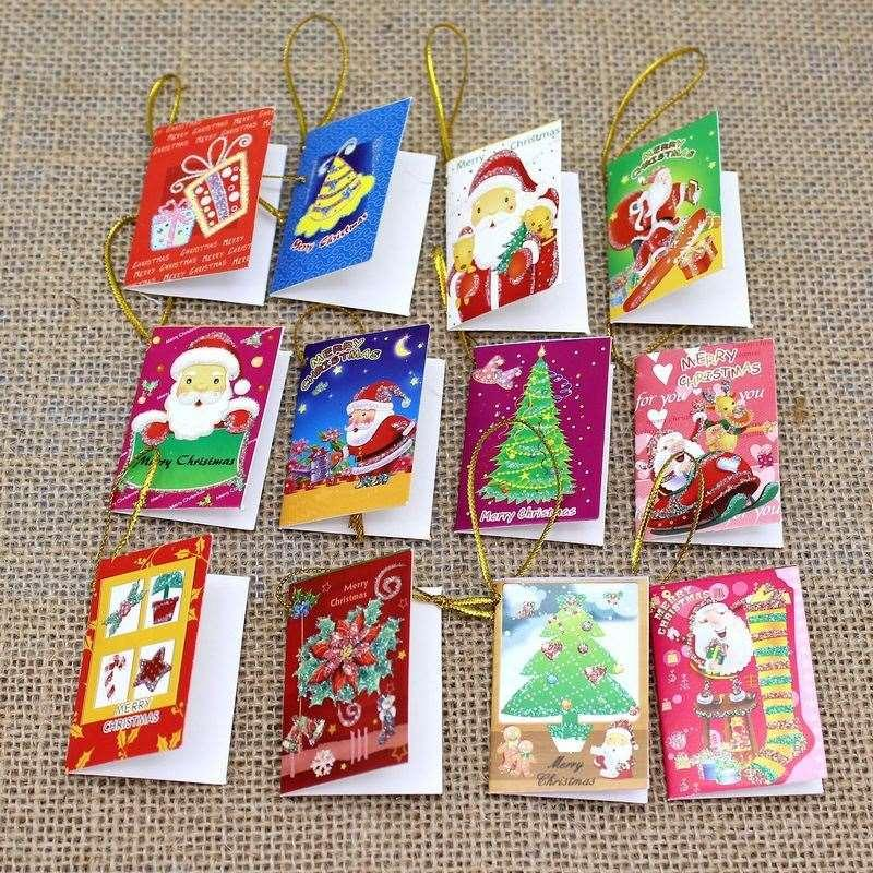 creative handmade paper cards christmas holiday greeting cards merry christmas card for decorating christmas tree party decoration christmas decoration sale - Handmade Paper Christmas Decorations