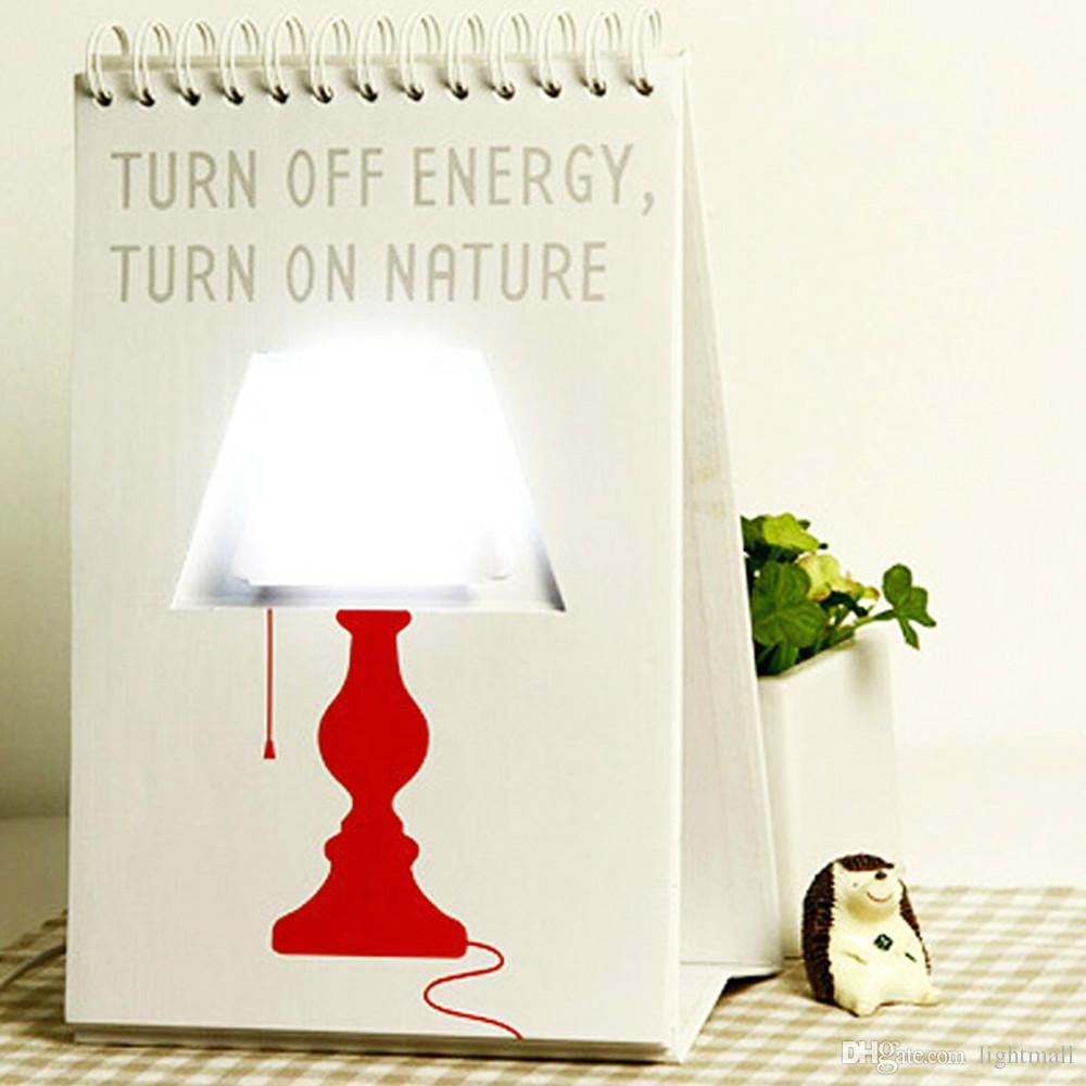 2018 Hot Sale Diy 2016 Calendar Table Lamp Usb Page Light Flip ...