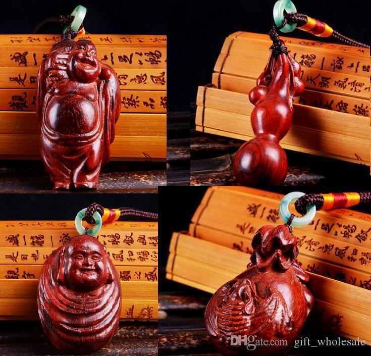 High Quality Sandal Wood Carving Pendant the Chinese wood Carving Gift Lucky Arts hot sell 4 styles