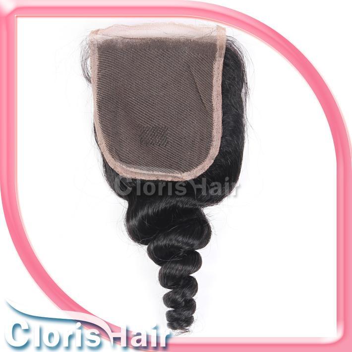Gevşek Dalga Malezya Saç ve Kapaklar Ucuz 3 Demetleri Gevşek Dalgalı İnsan Saç Dokuma Dantel Üst Kapatma Marley Kıvırcık Adet ile