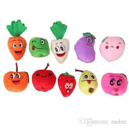 DHL Fedex Velvet Fruit Vegetable Finger Puppets Baby Kids Children Toys finger Puppet Dolls/Toys Story-telling Props/Tools Toy
