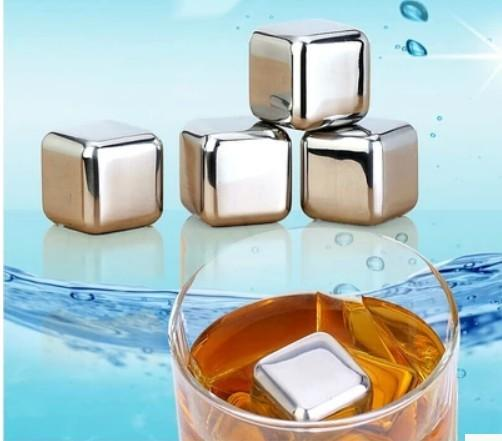 Stainless Steel Coffee square shape Ice Cube Cooler Cooling Ice Stones Beverage Drink Coffee Tea Wine Beer Chiller,dandys