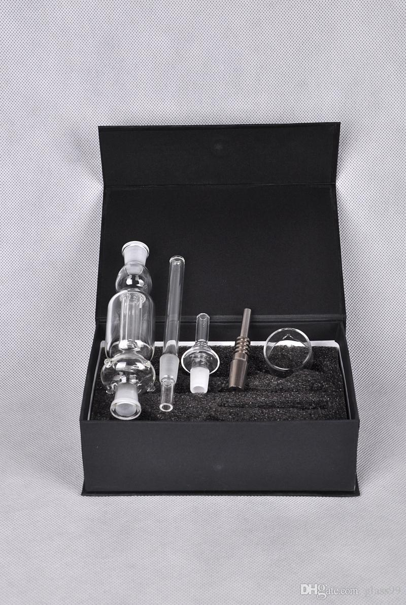 New glass smoking pipe Tips with Titanium and Quartz Nail Dabber Dish