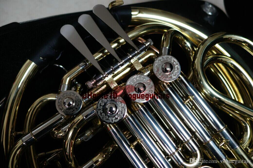 Avanzado 4 llave doble cuernos franceses de oro con el envío gratis