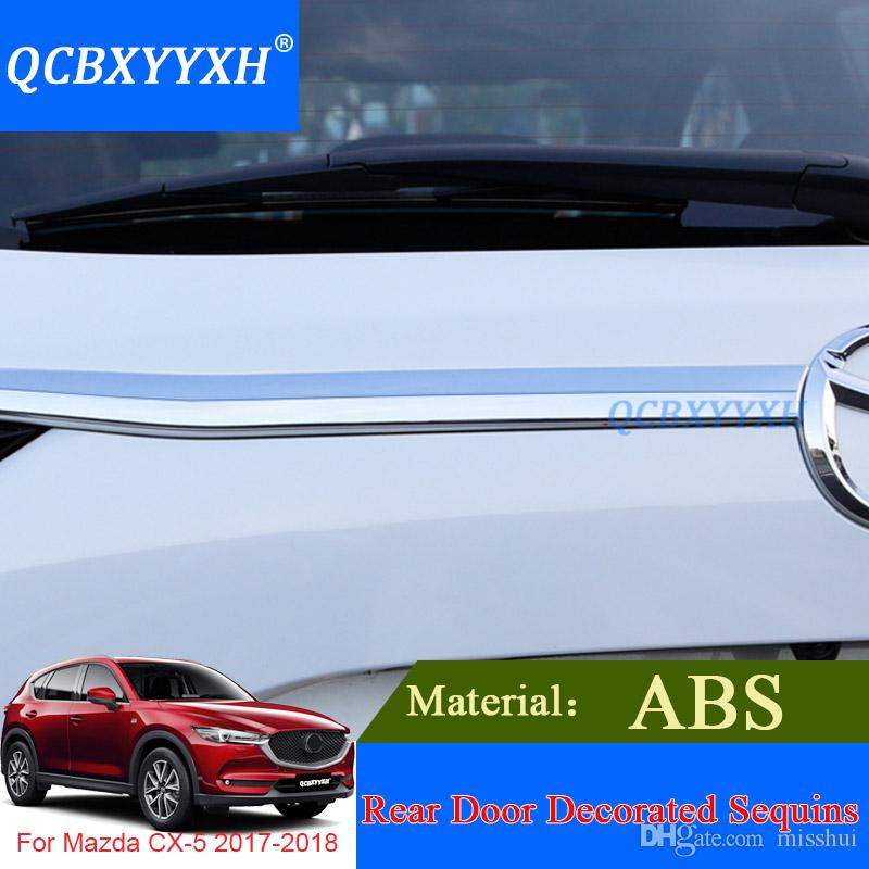 ABS стайлинга автомобилей хром задний багажник отделка украсить блестками для Mazda CX-5 2017 2018 Аксессуары обложка внешние полосы украшения