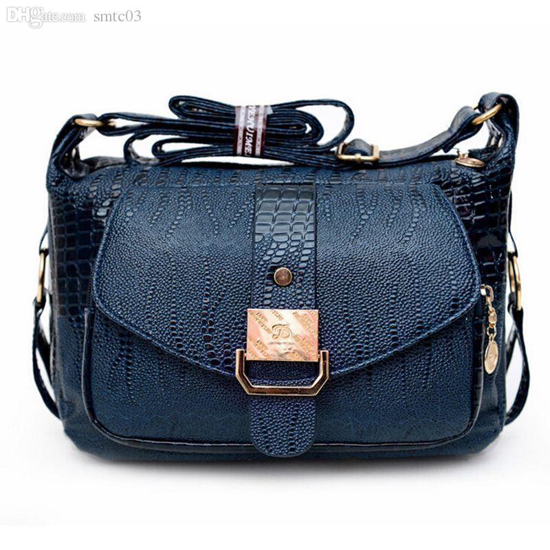 ... buy popular dc216 042e3 Wholesale Women Messenger Bags Leather Handbag  Mid Age Models Shoulder Bag Crossbody ... de85c5546b