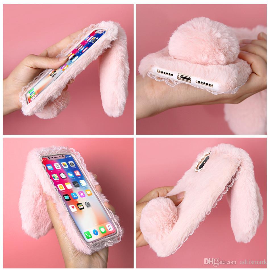 Рождественский Кролик чехол для iPhone X 8 7 плюс милый чехол для iPhone 6 6 S Plus 5 5S SE 5C 4 Case Силиконовый Алмаз Bling Coque