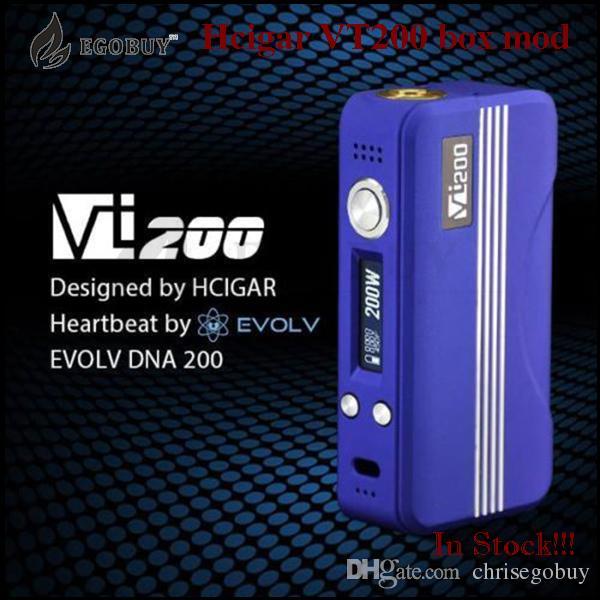 100% Authentic HCIGAR VT200 TC Box Mod with DNA 200 chip VT 200 Mods Temp Control VS snowwolf Xcube kooper plus sigelei 200w