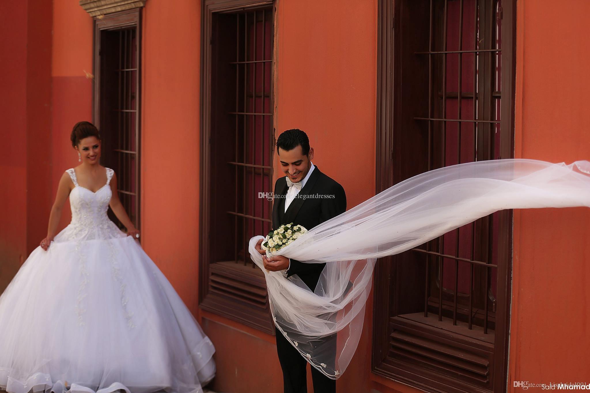 Принцесса 2021 Кружева Свадебные платья Белая слоновая слоновая кость свадебные платья Милая шейка плюс Размер шнуров руки вверху бисером органза Сваденья свадьбы