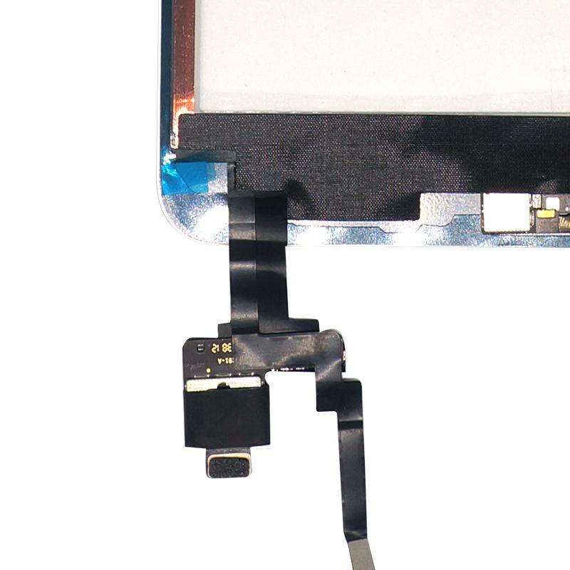 Nuovo touch screen Digitizer Touch Screen con IC con tasto Home 3M Adesivo Vetro esterno lente Sostituzione pannello di montaggio iPad Mini 3