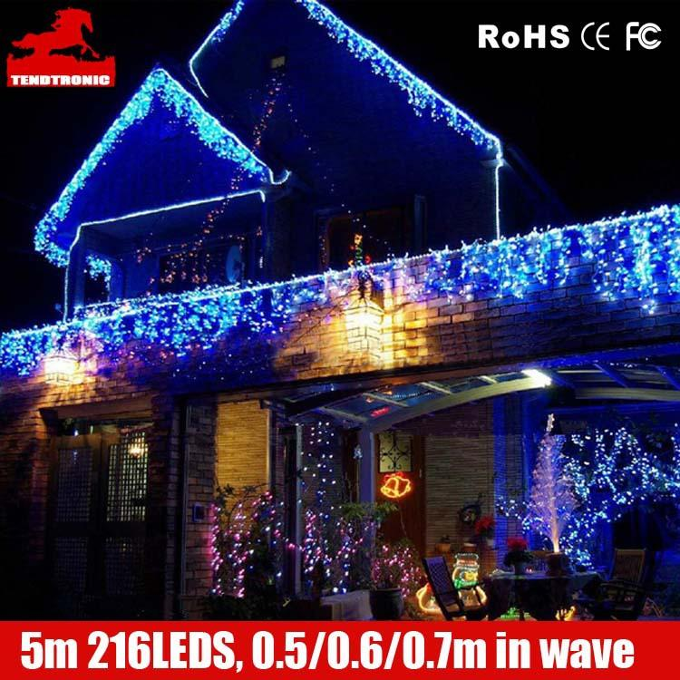 Icicle Christmas Lights.Led Wholesaler 16 4feet 216 Led Icicle Christmas Holiday Lights 5m 0 5 0 6 0 7m Xmas Wedding Party Backgroud Decoration Icicle Lights 2pack