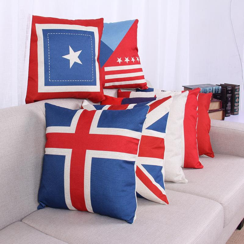 National Flags Cushions American British Canada French