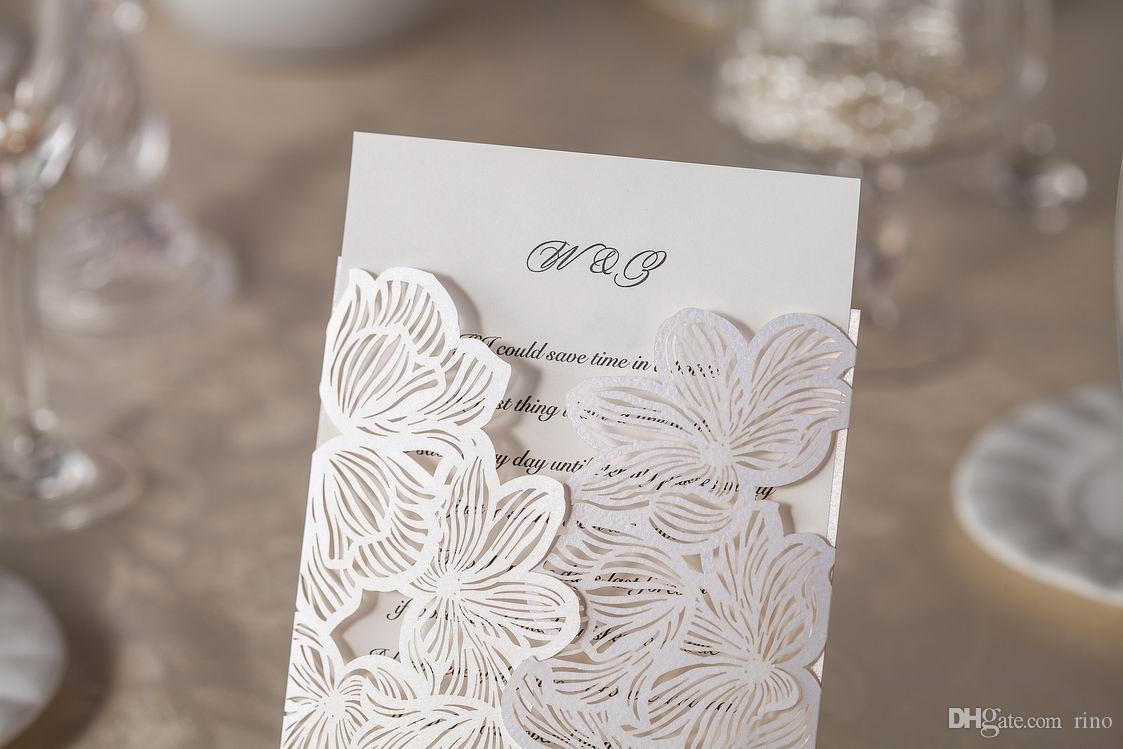 Wedding Invitations Cards Personalized Floral Wedding Cards Invitations Printable Wedding Invitations Laser Cut Greeting Cards