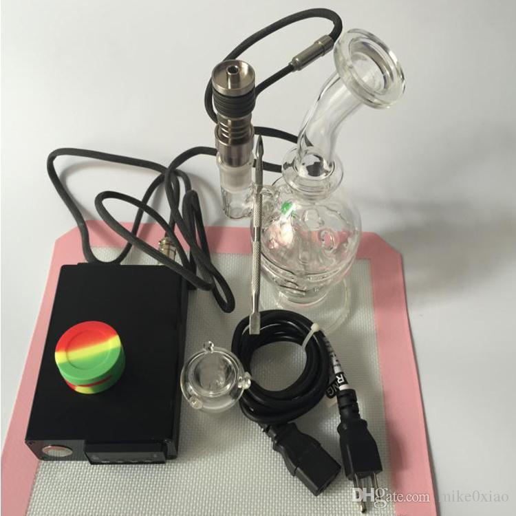 New nail for hookah shisha electric dab rigs for oil dab 110v heating coil with titanium nail glass bong silicone mats tool