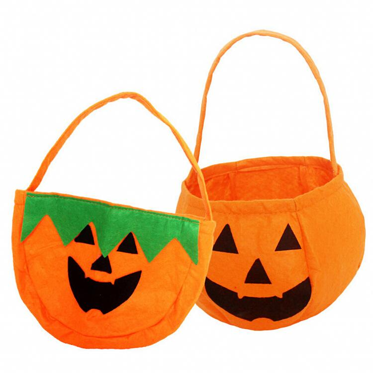 Fantastic All Saints' Day Halloween COSPLAY Decoration Props Trick or Treat Pumpkin Candy Bag Two Styles Free Shipping