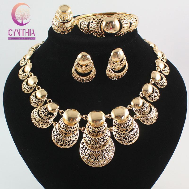 Diamond Rings Sale Dubai: 2019 Hot Sale Africa Dubai 18K Gold Plated Fashion Wedding