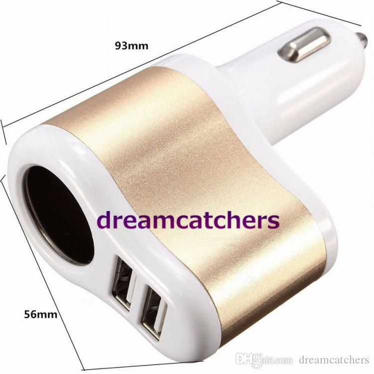 Universal Cigarette Lighter Dual USB 3.1A Car Charger Power Socket Traver Adapter for iphone 7 Samsung S7 HTC M9 Blackberry