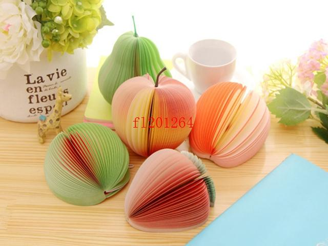 Memo Pad Fruit notepad Waterlemon Peach Paper Note Notepad Novelty Mix Style,