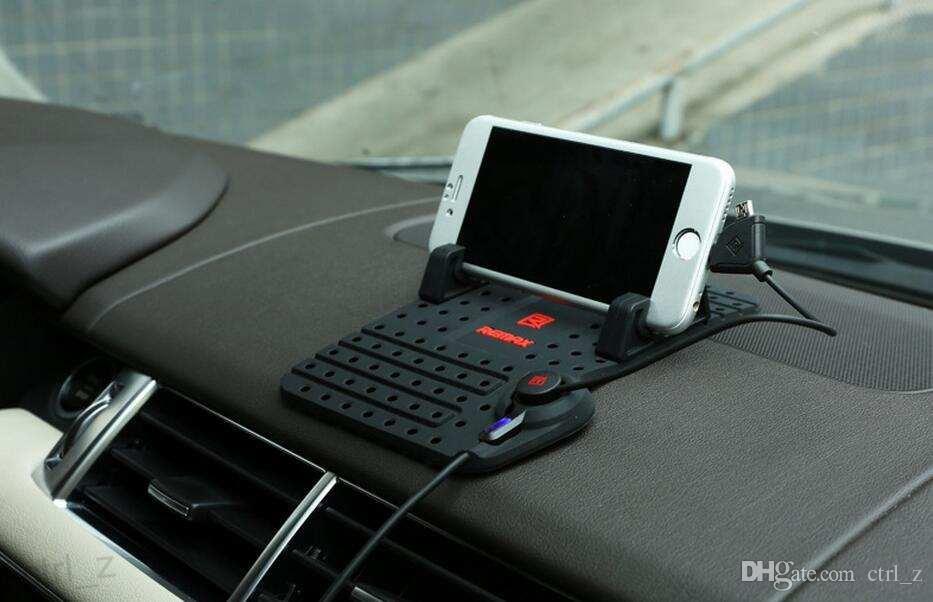 Remax montagem titular do carro suporte do painel pad suporte com conector do ímã e cabo para iphone 6 6 s samsung s6 nota 5
