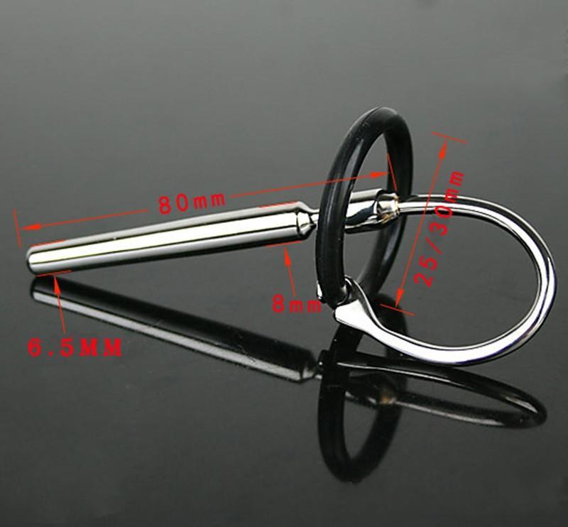 도매 남근 플러그 Urethral 소리 80mm 성 제품 제품 섹스 토이 카테터 남성 정장 장치 장난감 실린더 유형 스테인레스 스틸 소리 609