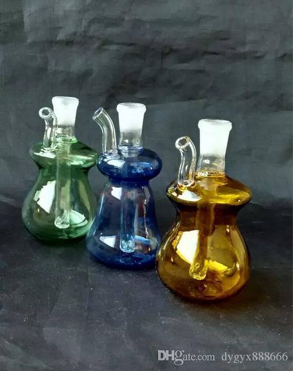 도매 무료 배송 ----- 미니 컬러 유리 물 담 / 유리 봉, 높은 8cm, 선물 액세서리, 색상 임의 배송
