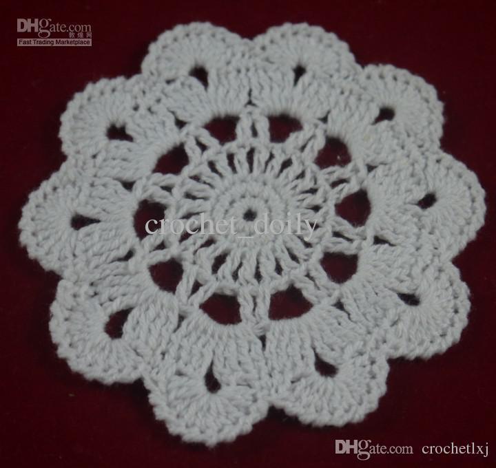 Venda por atacado - 100% algodão feito à mão crochê doily toalha de mesa, 6 desenhos personalizados, decoração de casamento crochet applique / ZJ001