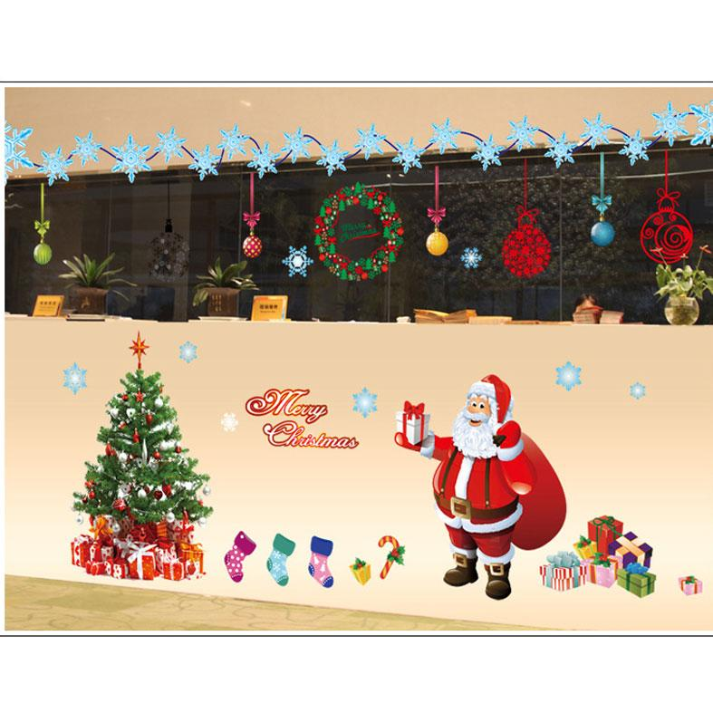 compre envío gratis merry christmas wall sticker diy santa claus