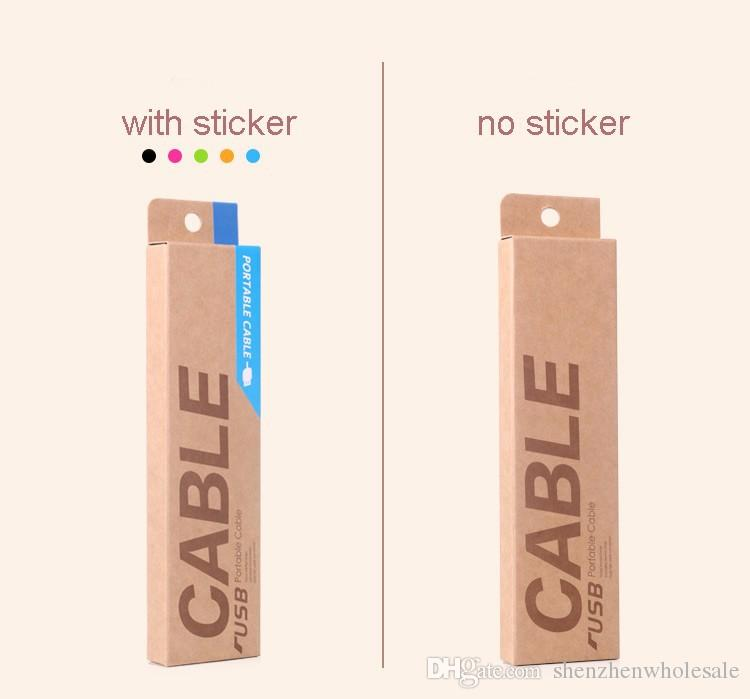 153*40*15mm Kraft Paper Retail Packaging Carton Box For 1m USB Charging Cables for Smart Phone CellPhone Galaxy S4 S5 HTC Data Cable Package