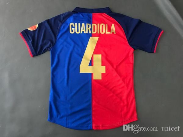80b4c32b88 Compre Josep Guardiola 1998 1999 Camisas De Futebol Retro 100 Anos Edição  De Aniversário Camisas Do Futebol Camiseta De Fútbol Maillot De Pé De  Unicef
