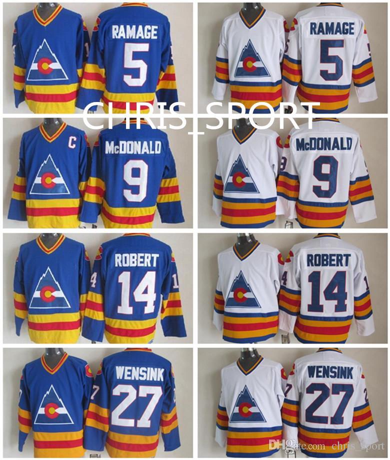 4aae854c32d ... colorado rocky throwback ccm hockey jerseys 5 rob ramage 9 lanny  mcdonald 14 rene robert 27
