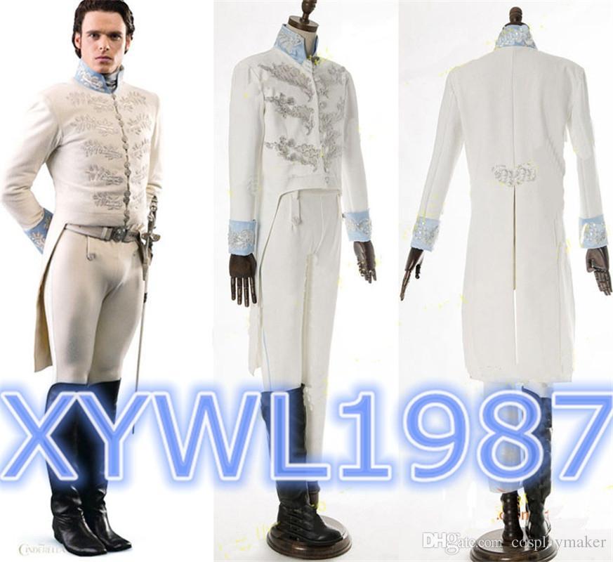 free shipping dis ney cinderella prince charming richard madden tuxedo attire cosplay costume - Prince Charming Halloween Costumes