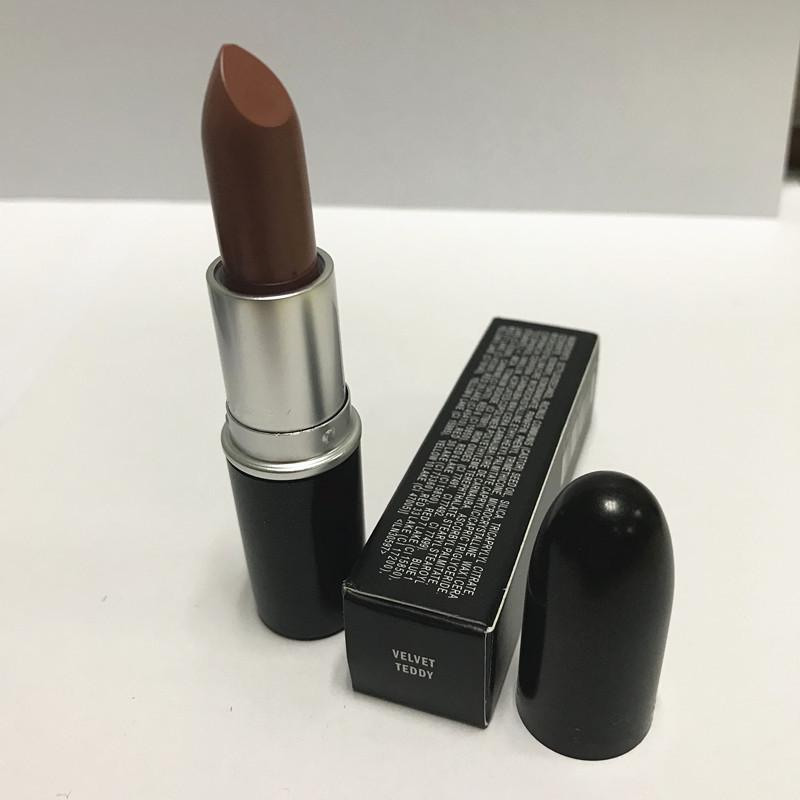 Good quality Luster Lipstick RUBY WOO CHILI VELVET TEDDY HONEYLOVE KINDA Frost Retro Matte Lipstick 3g with english name