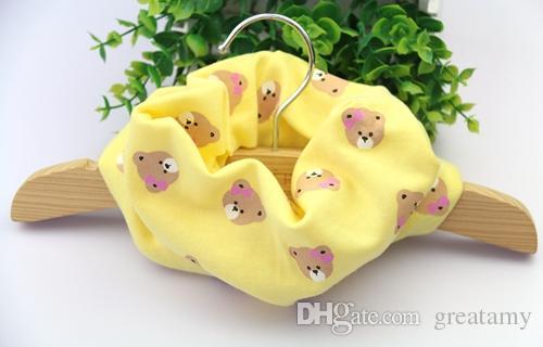 Baumwollschal der Kinder scherzt Jungenmädchen Ring-Schals Lätzchengroßhandelsbaumwollausdehnungskarikatur-Waschbärschal-Bogenmuster Südkoreas süßes