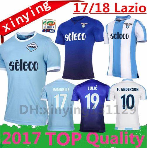 975b5d6c3 ... 2017 2018 Lazio Home Soccer Jersey Thai Quality 17 18 DJORDJEVIC  F.ANDERSON BASTA CRECCO ...