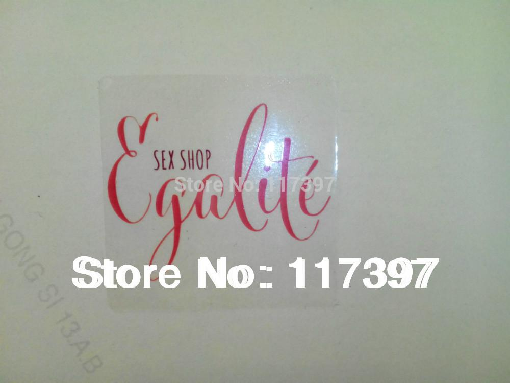 Logotipo de encargo etiquetas Sticker transparente Customized etiqueta engomada del PVC Transparente 1000 PC / porción
