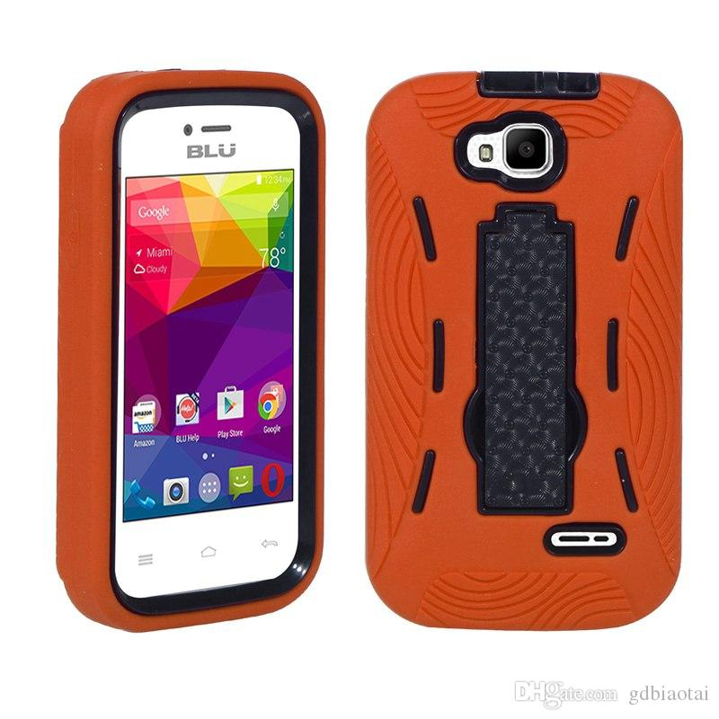 Newest Wholesale CELL PHONE CASE HEAVY DUTY Shockproof and Anti-skidding TPU+PC For BLU DASH JR 3G/D190U