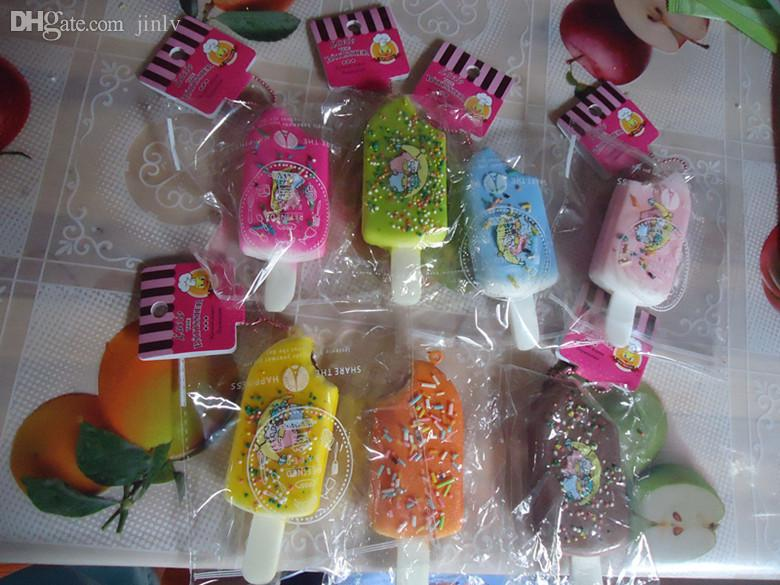 Atacado-30pcs / lots 10cm sorvete squishy com tags
