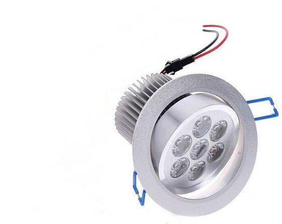 7X1W LED سقف بقعة ضوء مصباح فلوش جبل 7W عكس الضوء 110V 220V لسوبر ماركت حمام داخلي Lampada ديكور دافئ أبيض CE FCC
