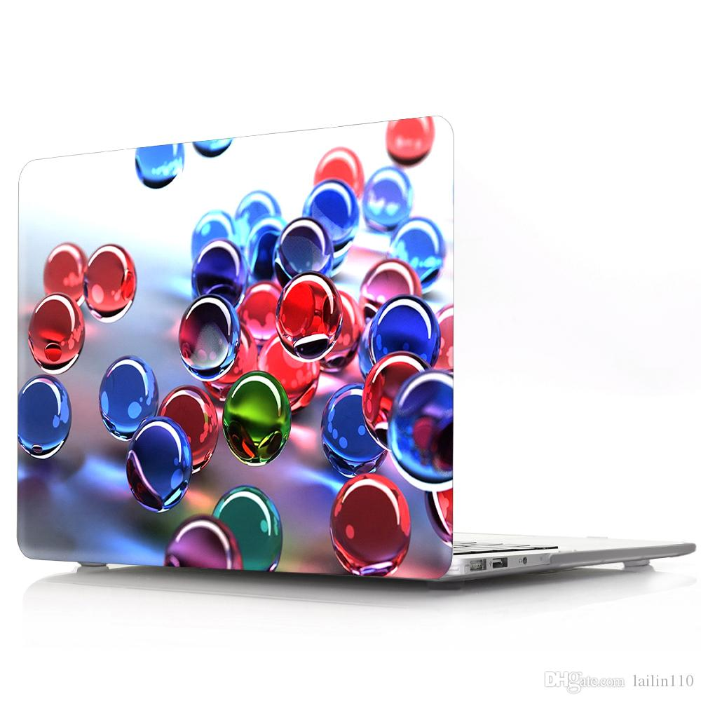 Glass-ball Oil painting Case for Apple Macbook Air 11 13 Pro Retina 12 13 15 inch Touch Bar 13 15 Laptop Cover Shell