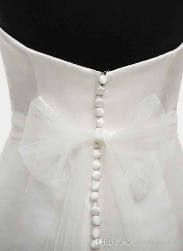 2019 Потрясающий Bridal Sash Handmade Цветы Свадебные Платья Свадебные Ремни с Бисером Свинцев Жемчужина Органза Галстук в Органзах Назад Регулируемый размер